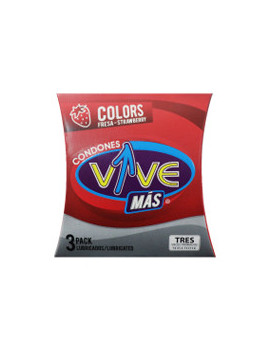 Condones Vive Color Fresa