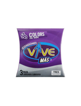 Condones Vive Color Uva