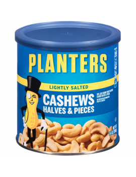 Planters Lightly Cashews Halves 12/8  oz