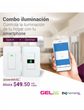 Combo iluminación (Switch + Dimmer)