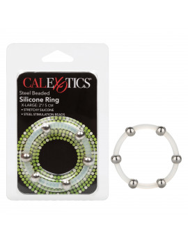 Steel Beaded Silicone Ring - Extra Large
