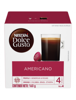 Nescafe D/Gusto Cafe Americ. 16cp 3x160g